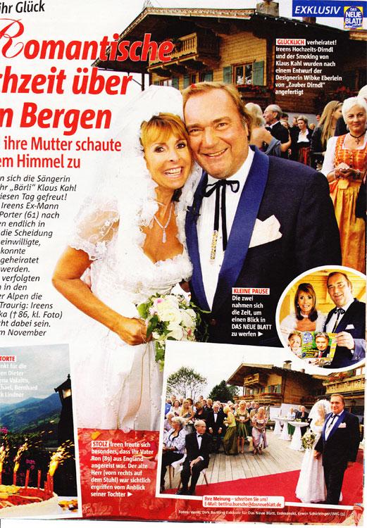 Romantische Hochzeit über den Bergen